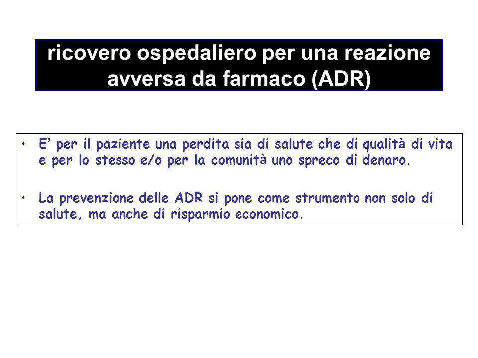 ricovero ospedaliero per una reazione avversa da farmaco (ADR)