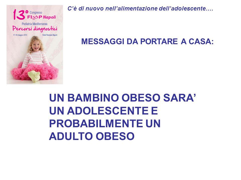 UN BAMBINO OBESO SARA' UN ADOLESCENTE E PROBABILMENTE UN ADULTO OBESO