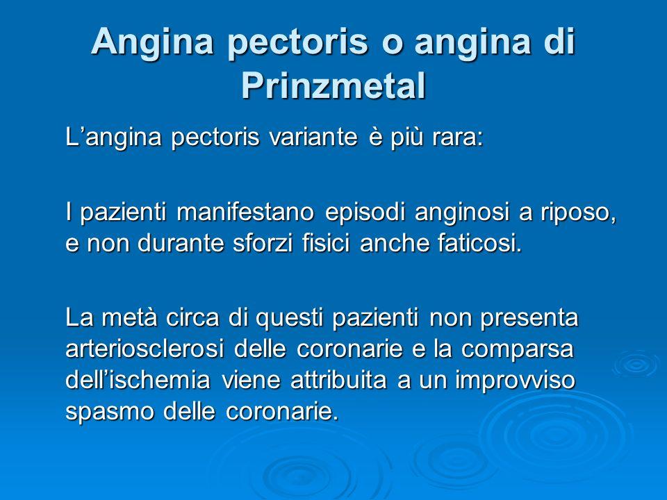 Angina pectoris o angina di Prinzmetal