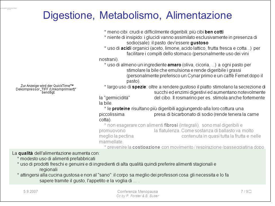 Digestione, Metabolismo, Alimentazione