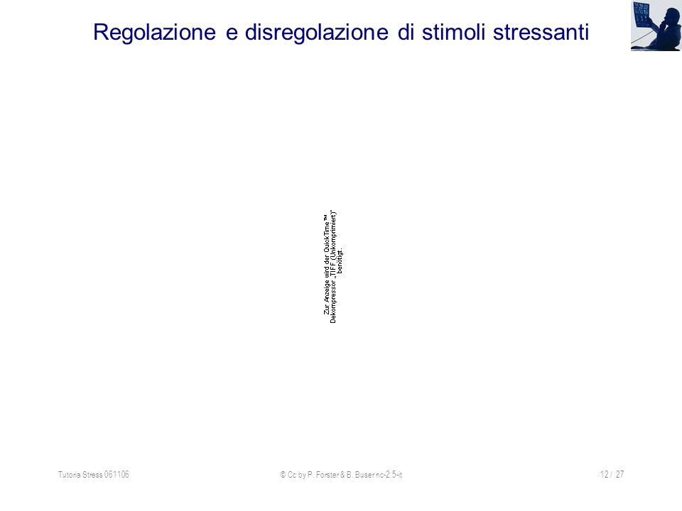 Regolazione e disregolazione di stimoli stressanti