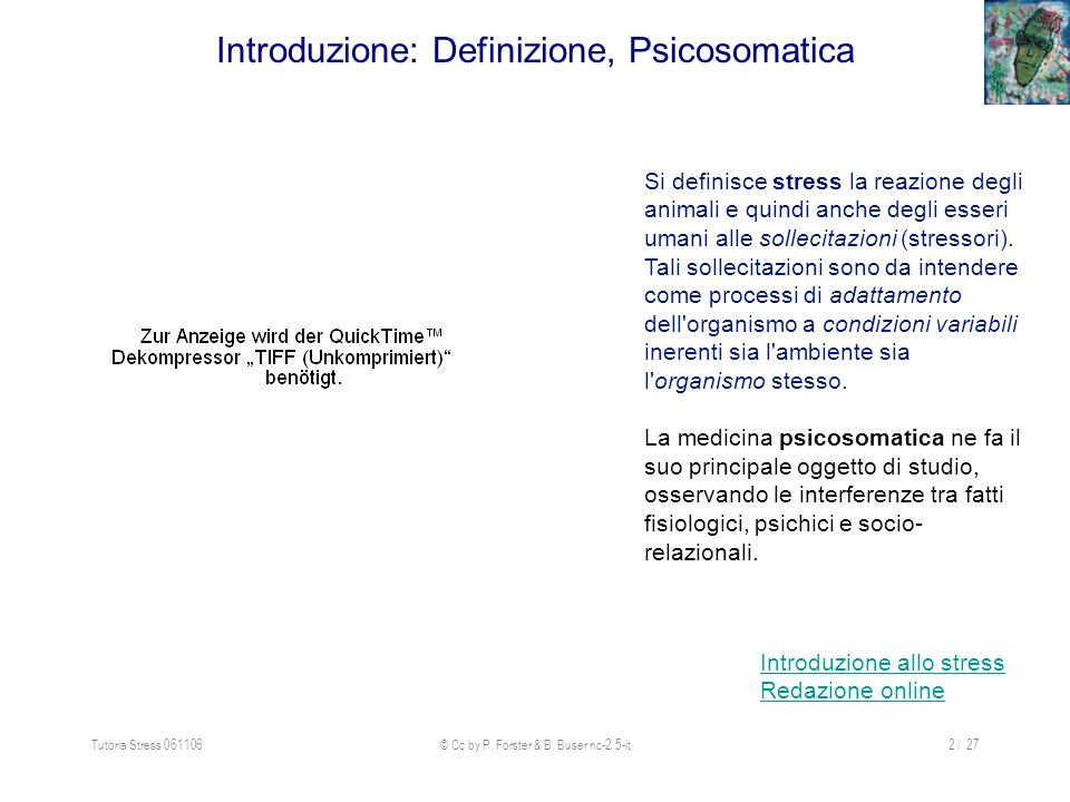 Introduzione: Definizione, Psicosomatica