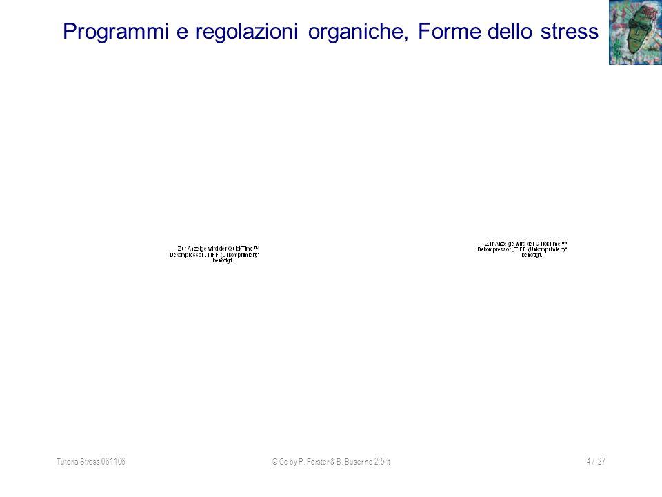 Programmi e regolazioni organiche, Forme dello stress