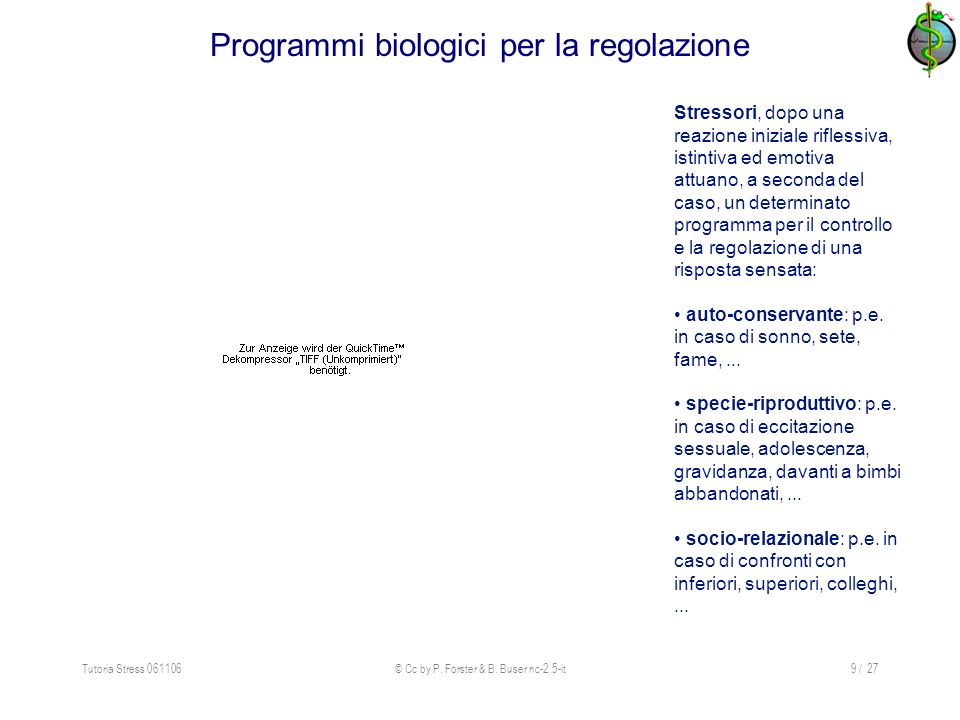 Programmi biologici per la regolazione