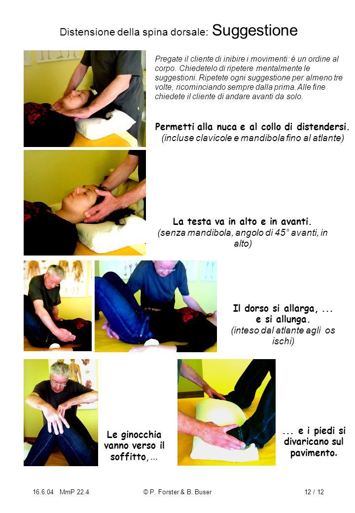 Distensione della spina dorsale: Suggestione