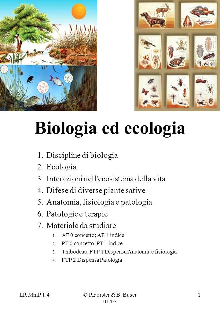 Biologia ed ecologia Discipline di biologia Ecologia