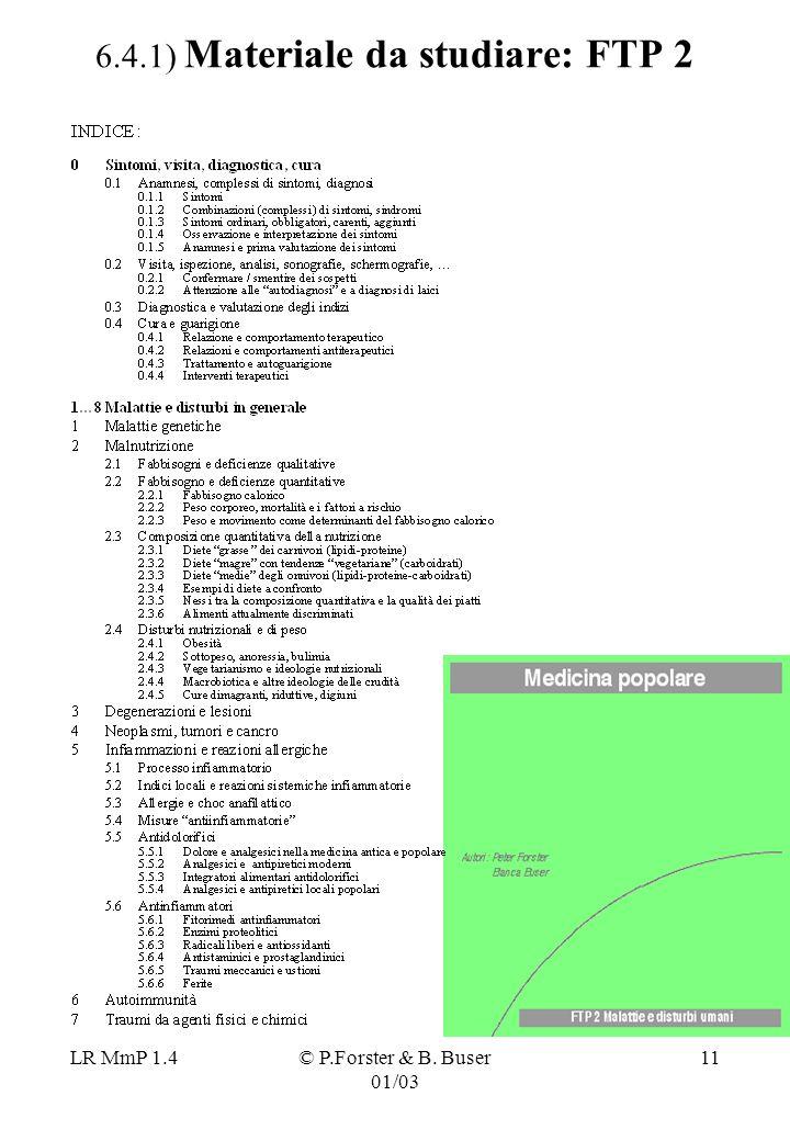 6.4.1) Materiale da studiare: FTP 2