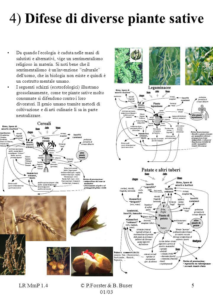 4) Difese di diverse piante sative