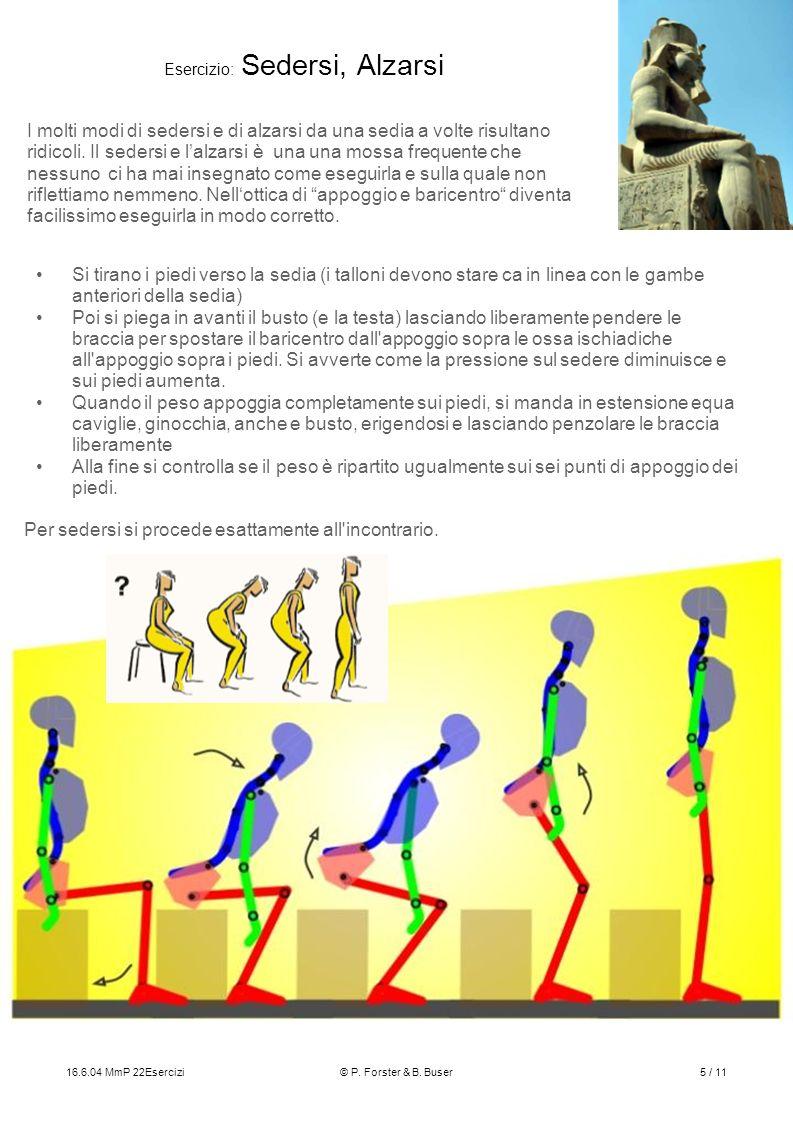 Esercizio: Sedersi, Alzarsi