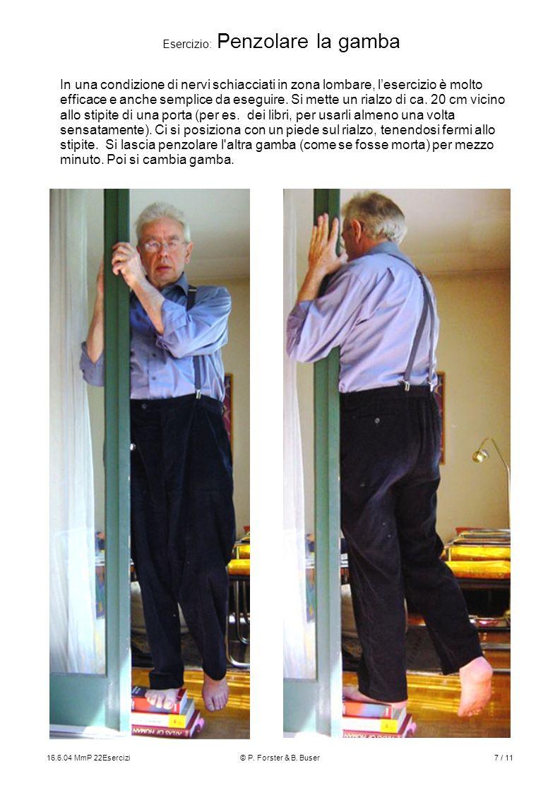 Esercizio: Penzolare la gamba