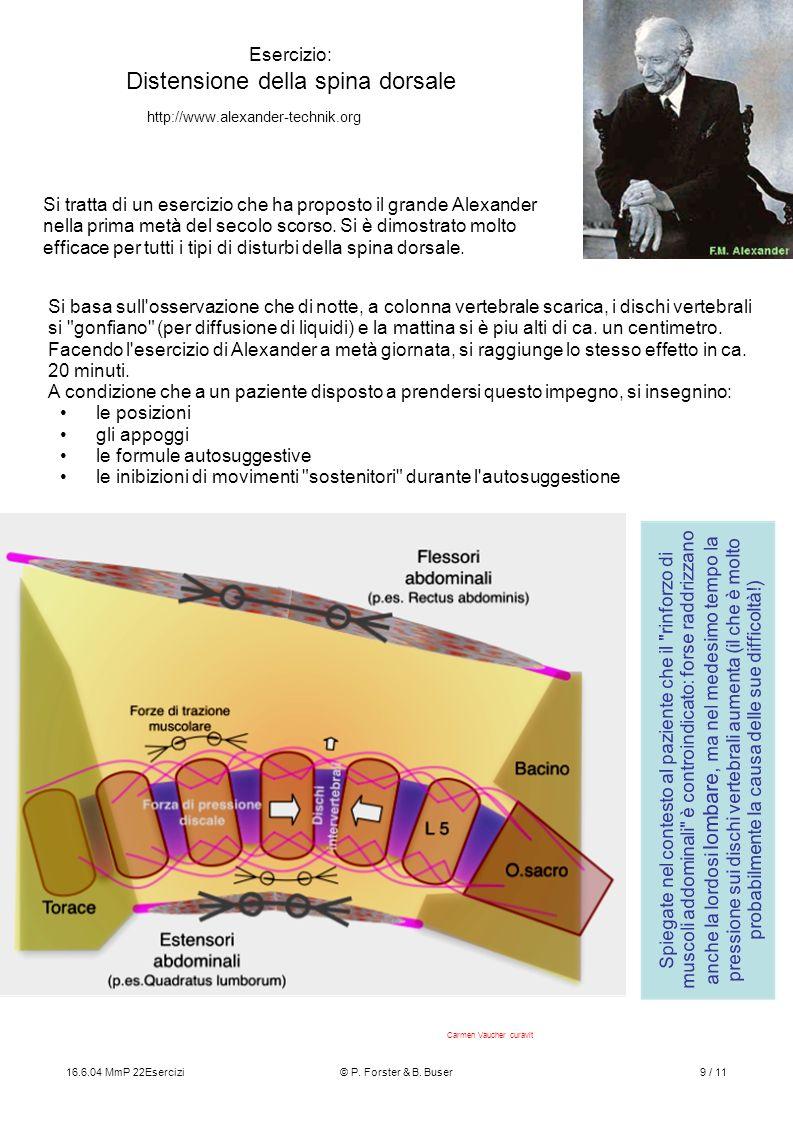 Esercizio: Distensione della spina dorsale