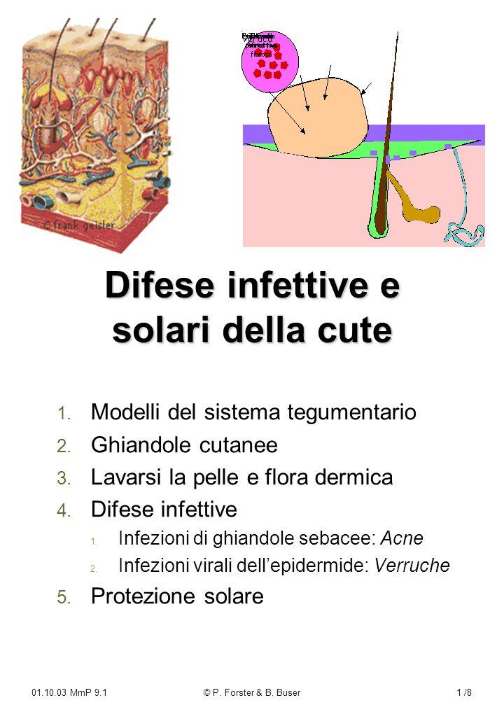 Difese infettive e solari della cute