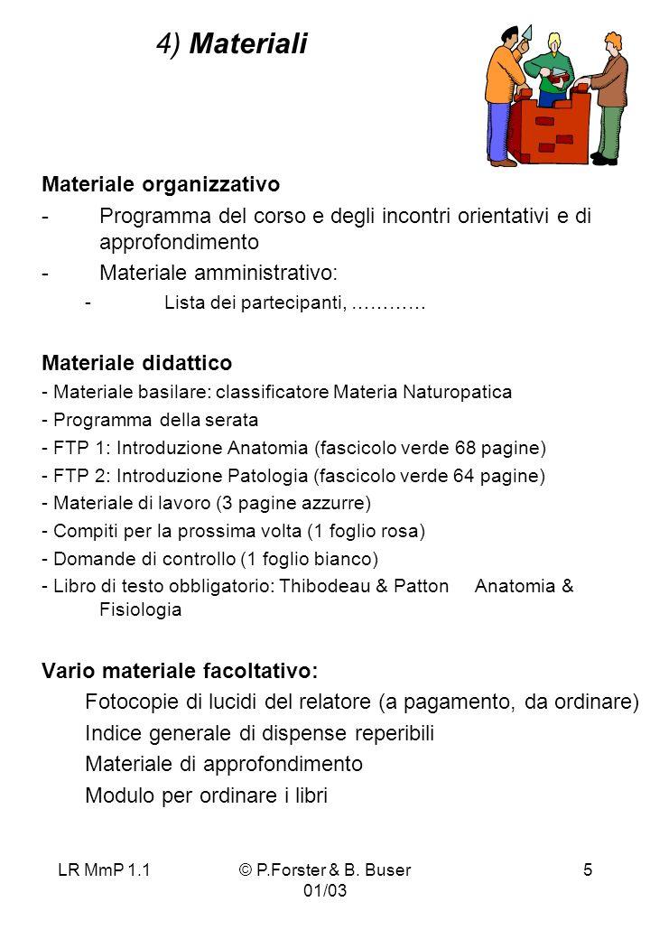 4) Materiali Materiale organizzativo