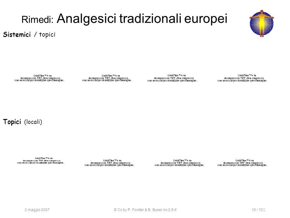 Rimedi: Analgesici tradizionali europei