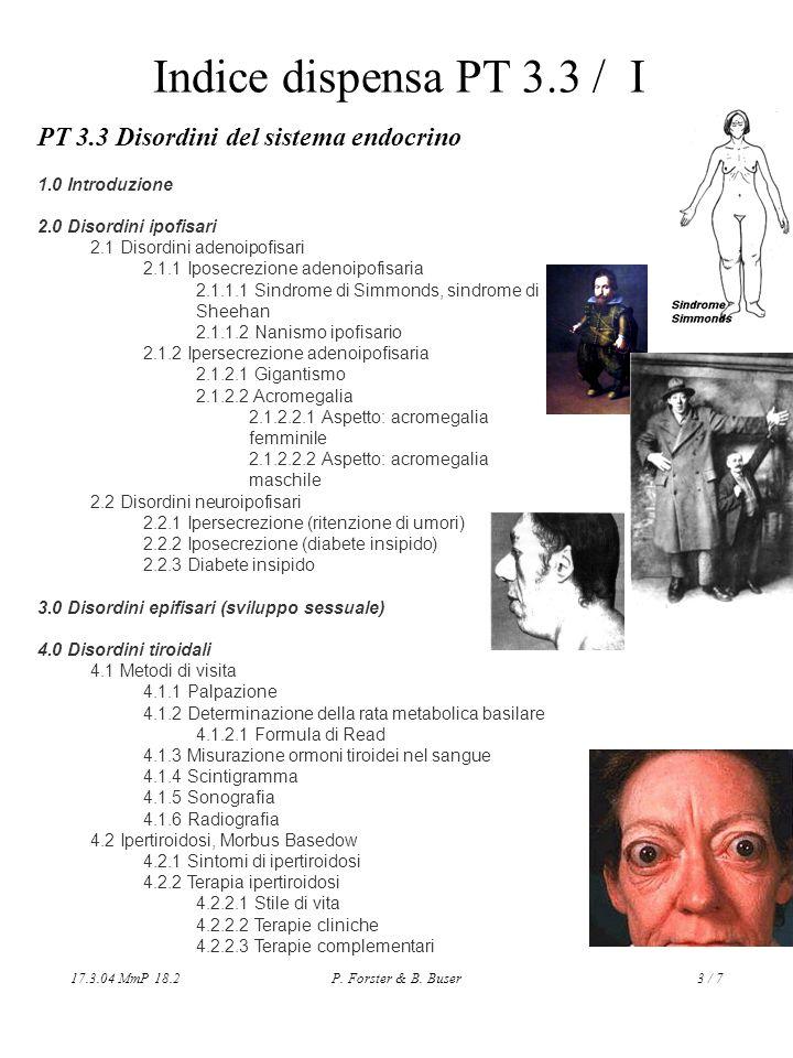 Indice dispensa PT 3.3 / I PT 3.3 Disordini del sistema endocrino