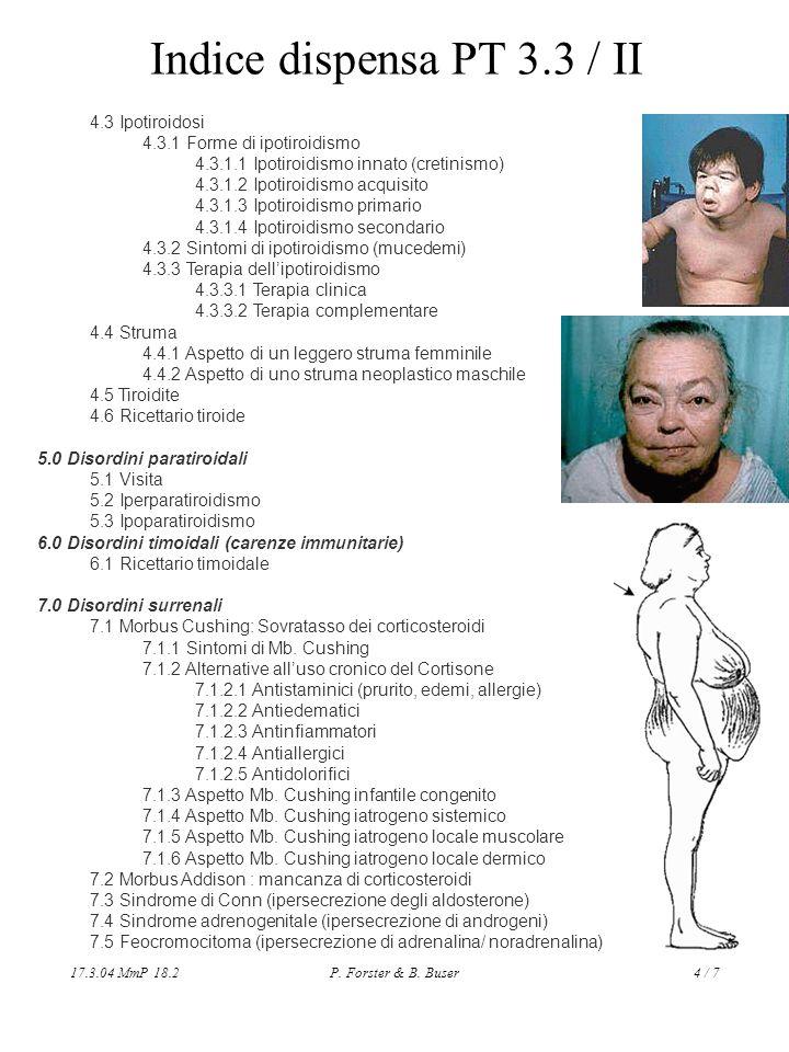Indice dispensa PT 3.3 / II 4.3 Ipotiroidosi