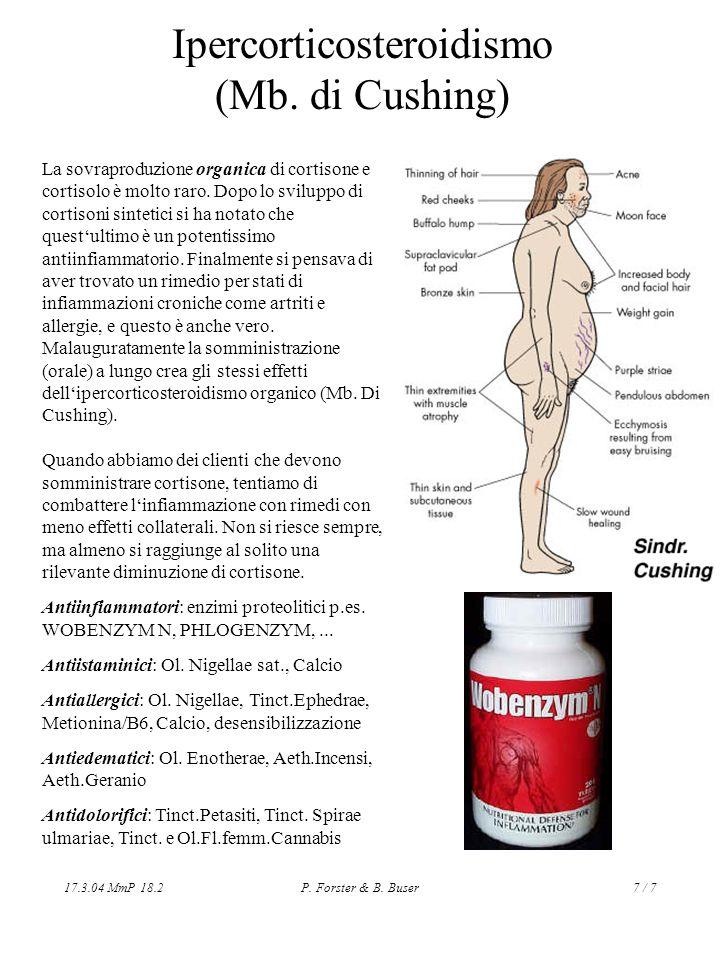 Ipercorticosteroidismo (Mb. di Cushing)