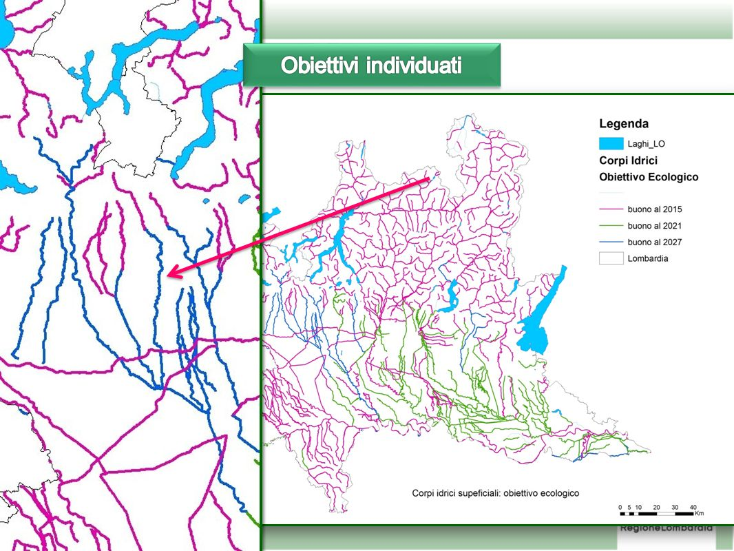 Obiettivi individuati per i corpi idrici fluviali