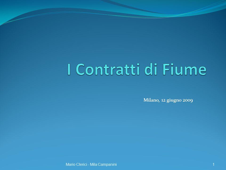 I Contratti di Fiume Milano, 12 giugno 2009