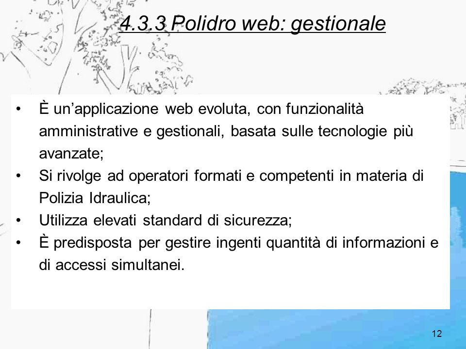 4.3.3 Polidro web: gestionale
