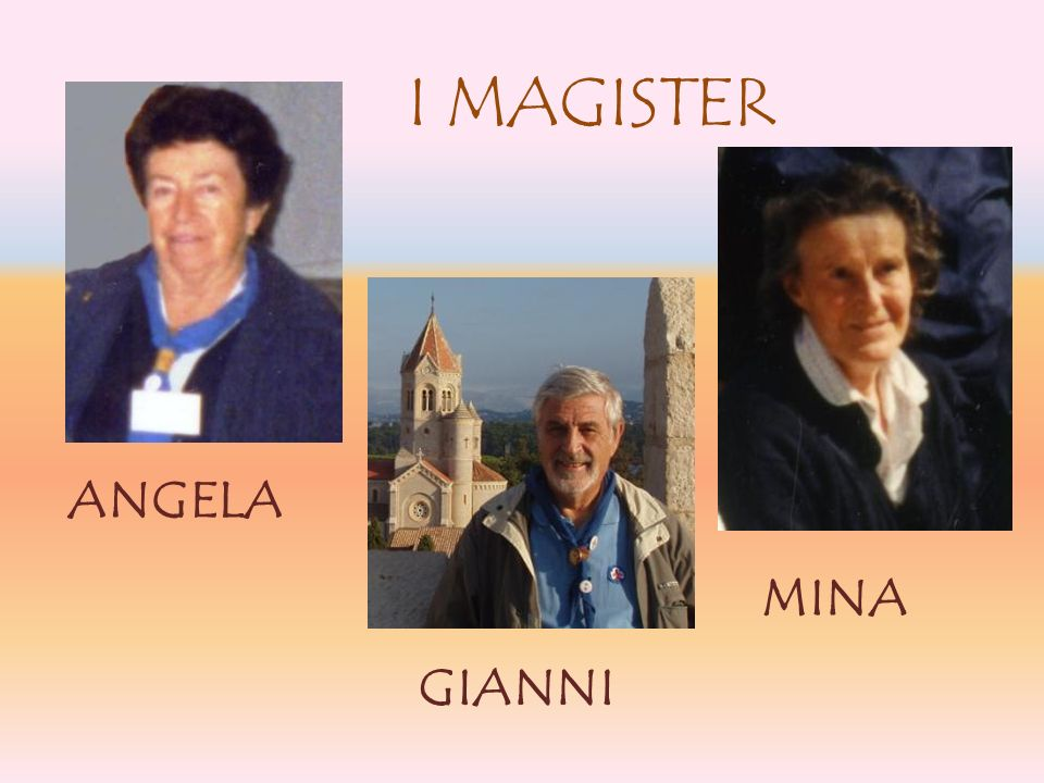 I MAGISTER ANGELA MINA GIANNI