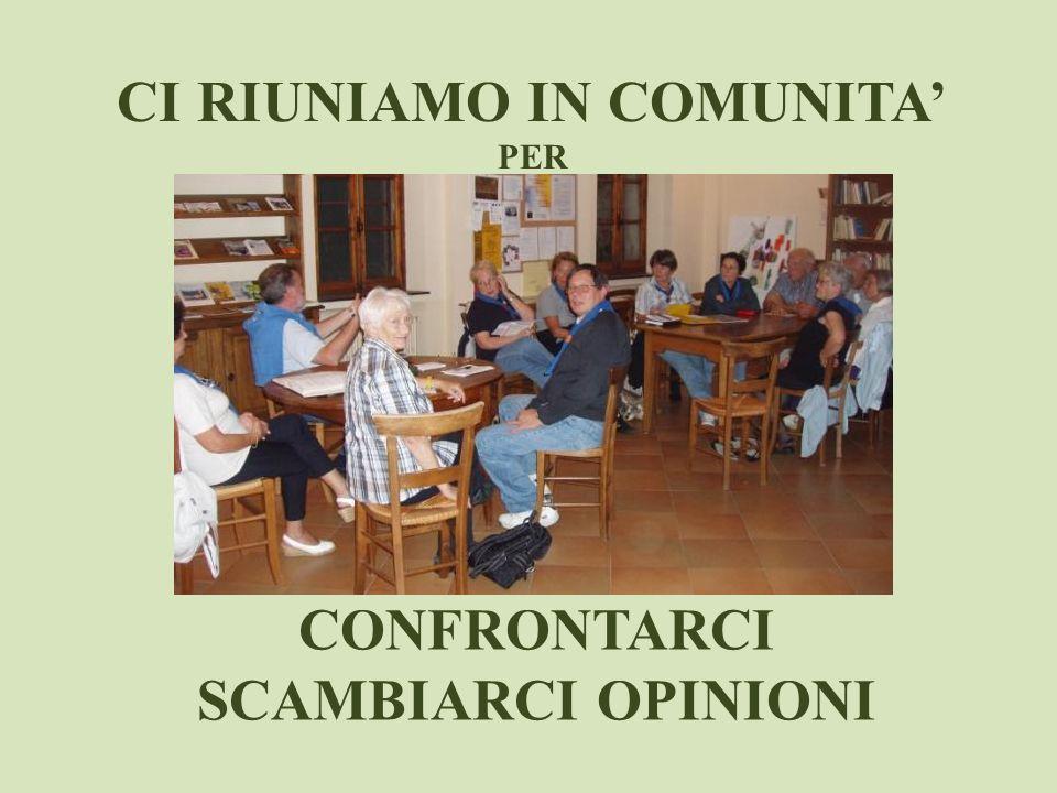 CI RIUNIAMO IN COMUNITA'