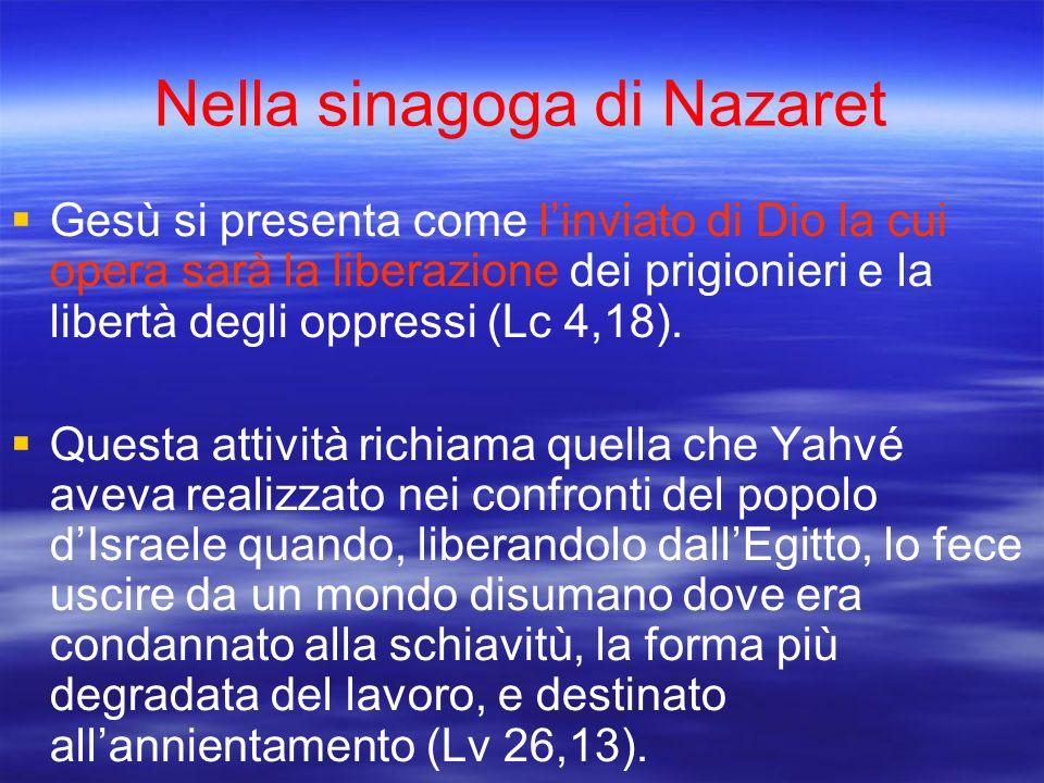 Nella sinagoga di Nazaret