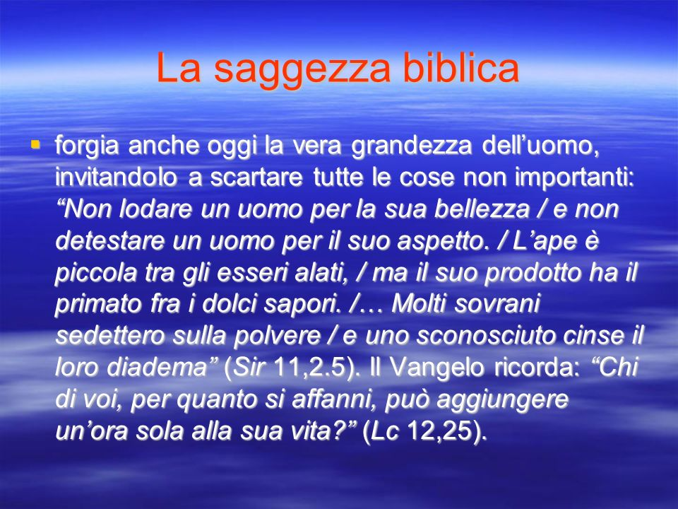 La saggezza biblica