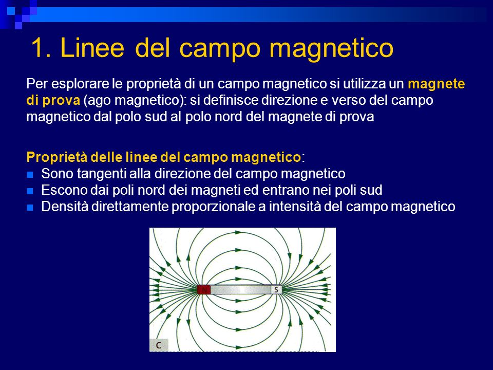 1. Linee del campo magnetico