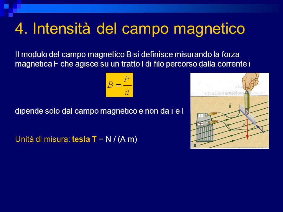 4. Intensità del campo magnetico