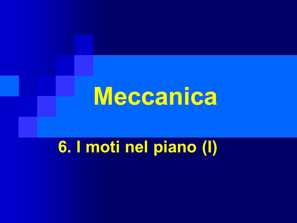 Meccanica 6. I moti nel piano (I)