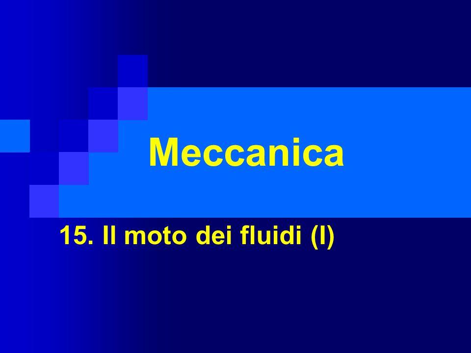 Meccanica 15. Il moto dei fluidi (I)
