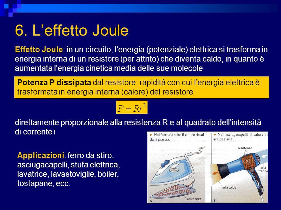 6. L'effetto Joule