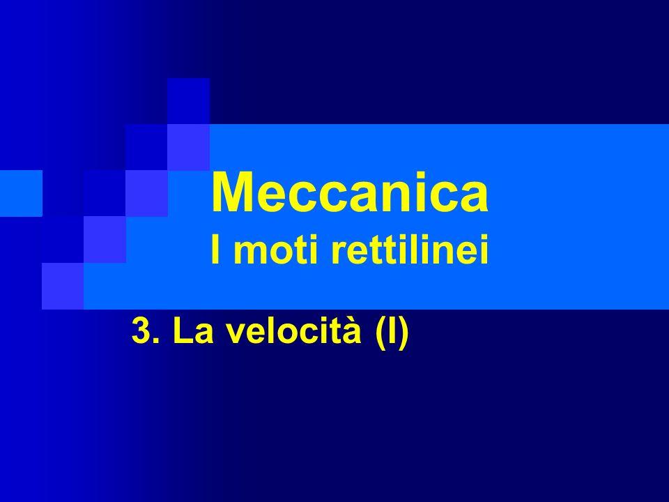 Meccanica I moti rettilinei