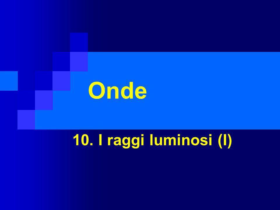 Onde 10. I raggi luminosi (I)