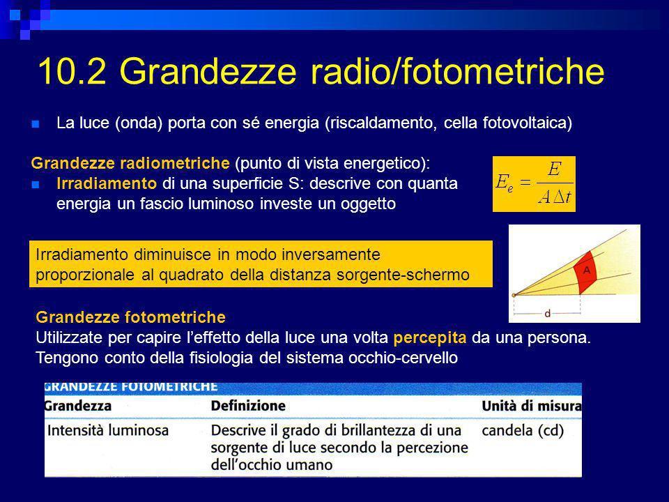 10.2 Grandezze radio/fotometriche