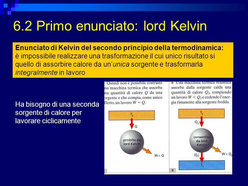 6.2 Primo enunciato: lord Kelvin