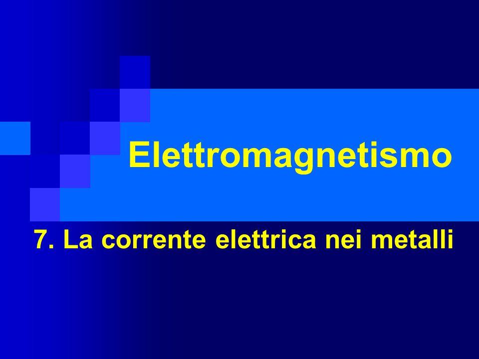 7. La corrente elettrica nei metalli