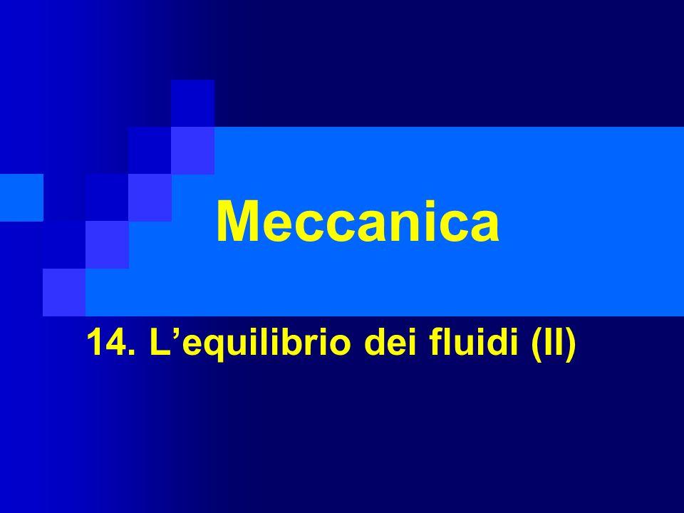14. L'equilibrio dei fluidi (II)