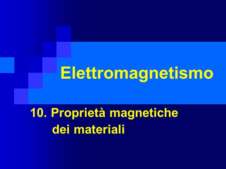10. Proprietà magnetiche dei materiali