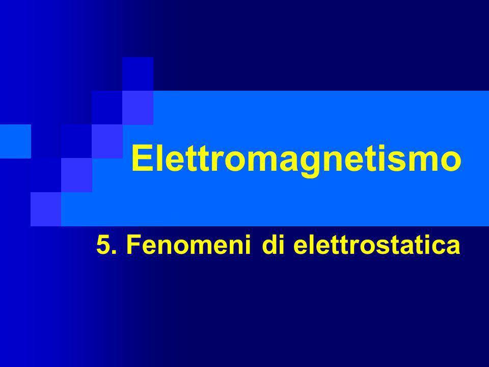 5. Fenomeni di elettrostatica