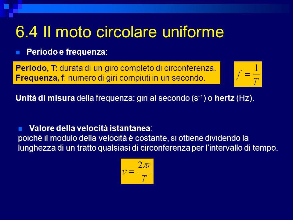 6.4 Il moto circolare uniforme