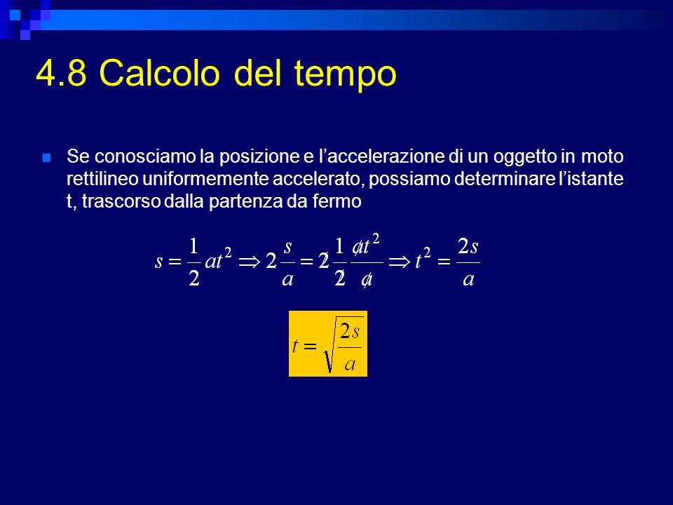 4.8 Calcolo del tempo