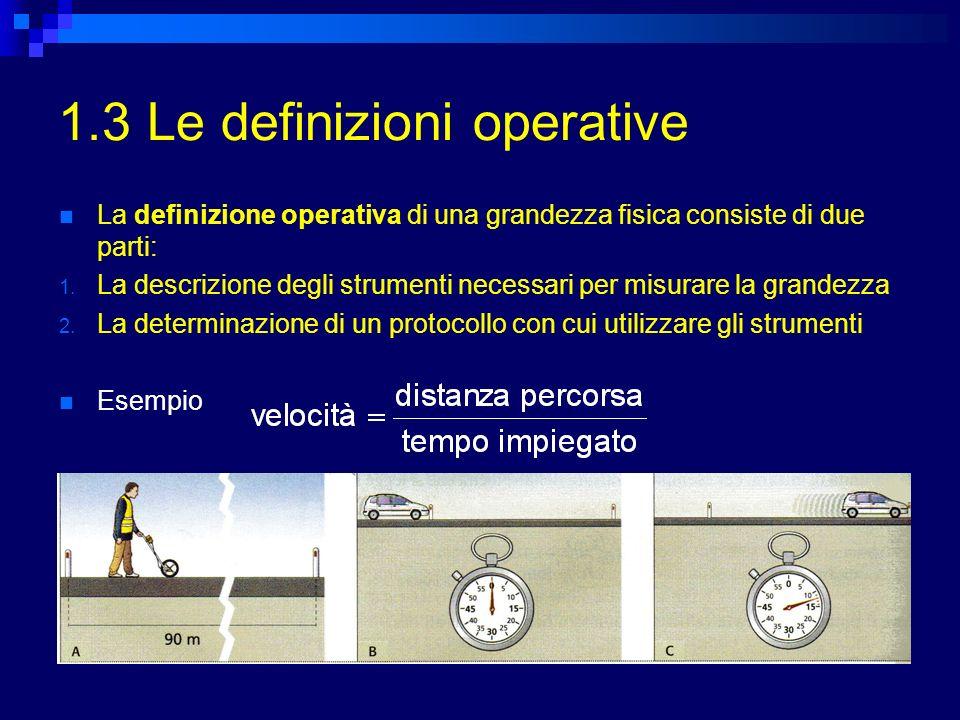 1.3 Le definizioni operative