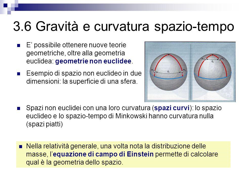 3.6 Gravità e curvatura spazio-tempo
