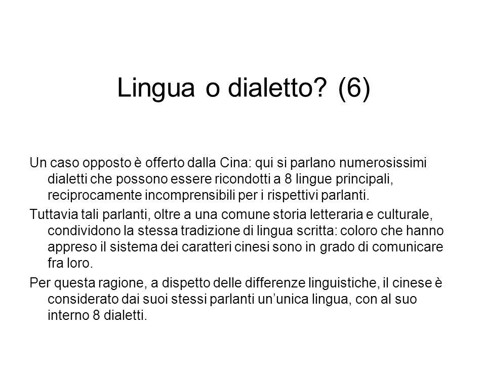 Lingua o dialetto (6)