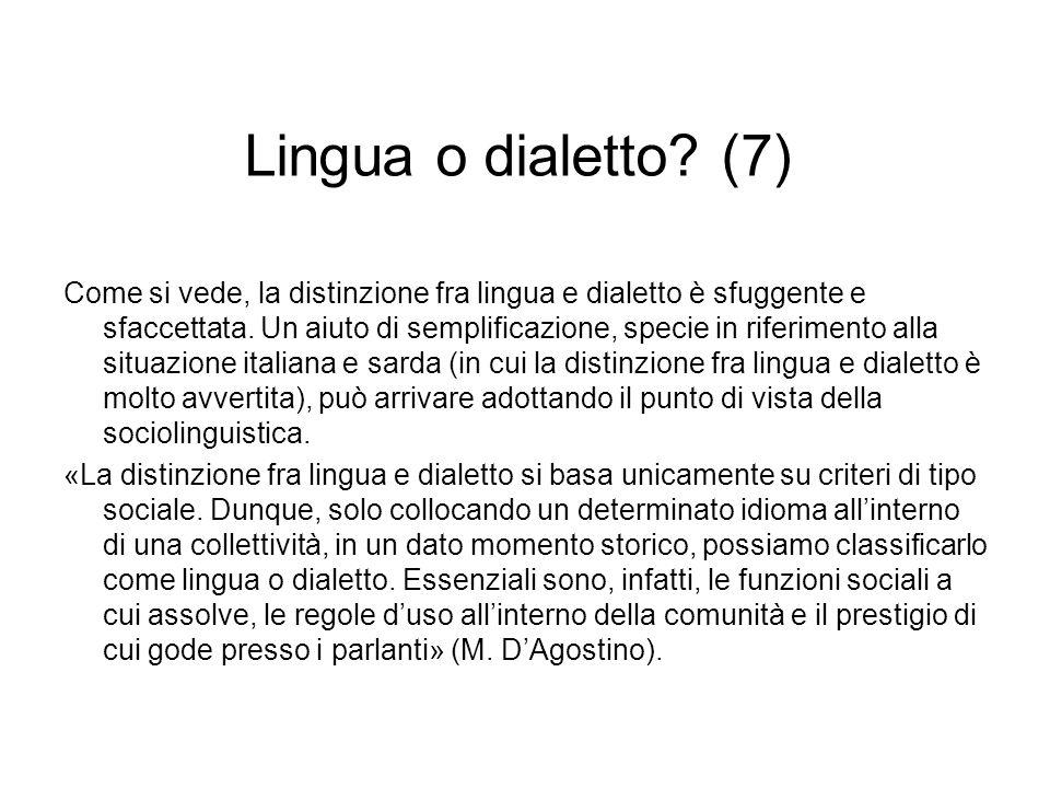 Lingua o dialetto (7)
