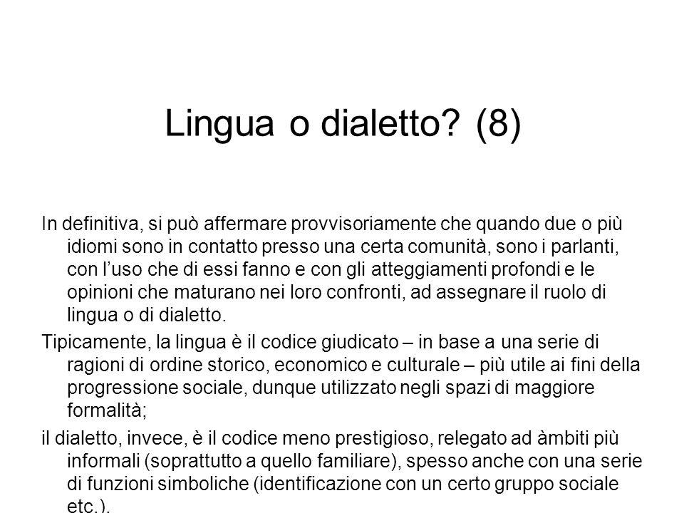 Lingua o dialetto (8)