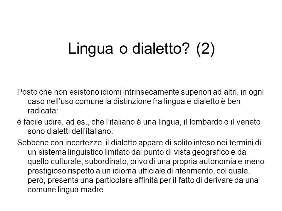 Lingua o dialetto (2)