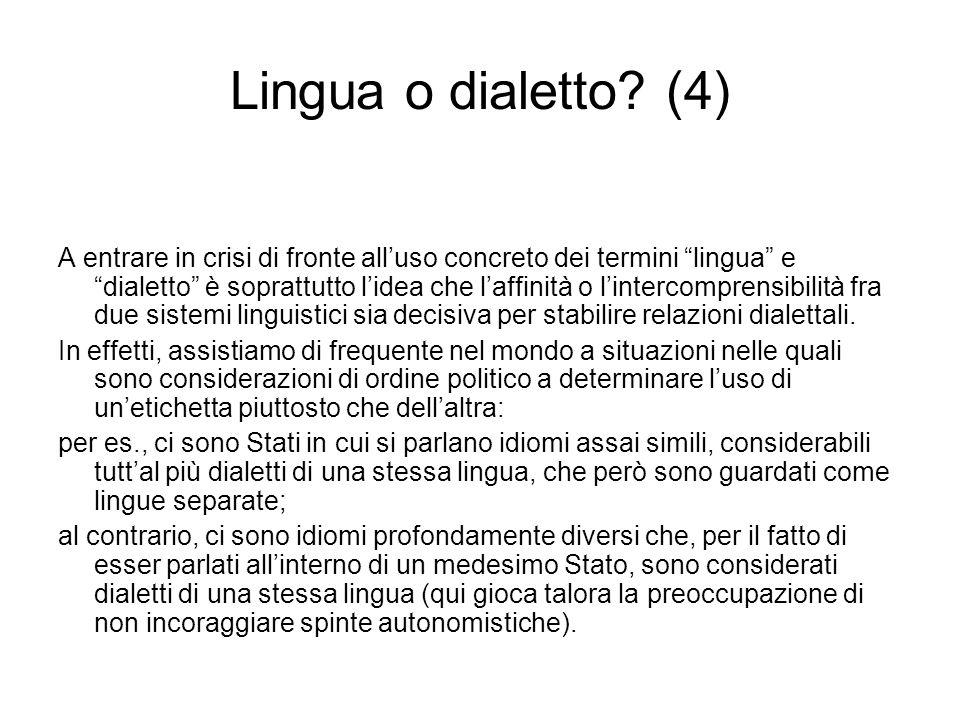 Lingua o dialetto (4)